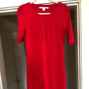 DVF Diane von Furstenberg Midi red dress size M